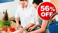 Hands-on Cookery Lesson for Two, Was £198, Now £88