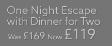 One Night Escape with Dinner for Two
