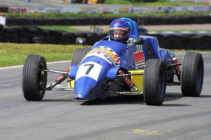 Single Seater Racing Car Driving