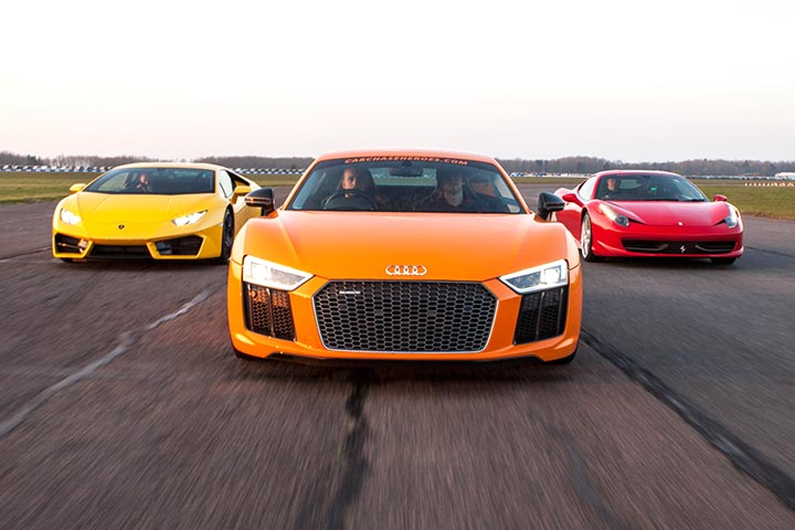 Ferrari, Aston, Lambo or Audi R8, plus a High Speed Passenger Ride