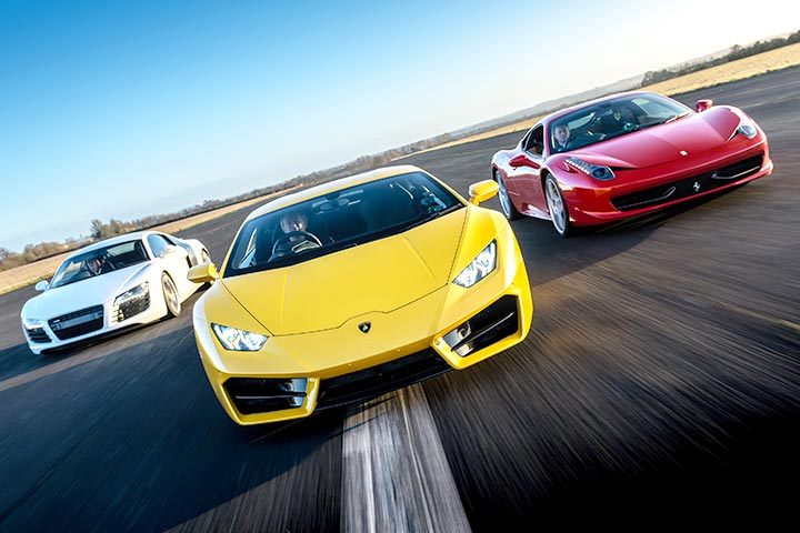 Ferrari, Aston, Lambo or Audi R8, plus a High Speed Passenger Ride