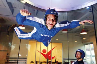 Indoor Skydiving for One with iFly Thumb
