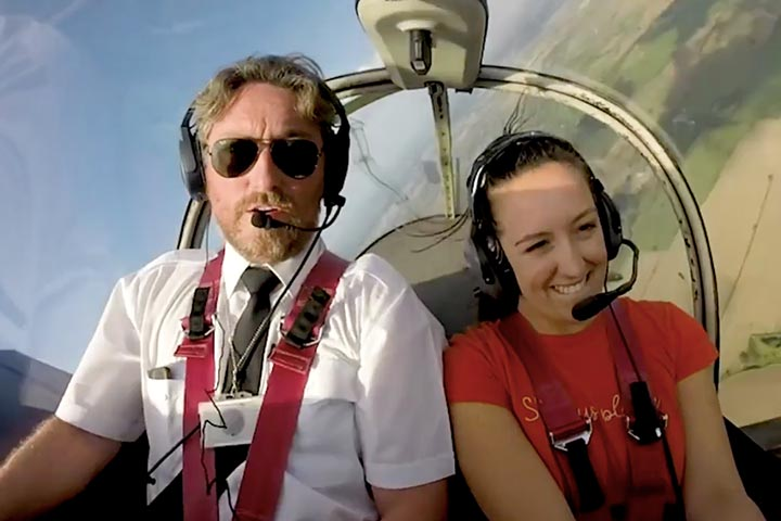 Flying Lesson with Scenic View of Silverstone