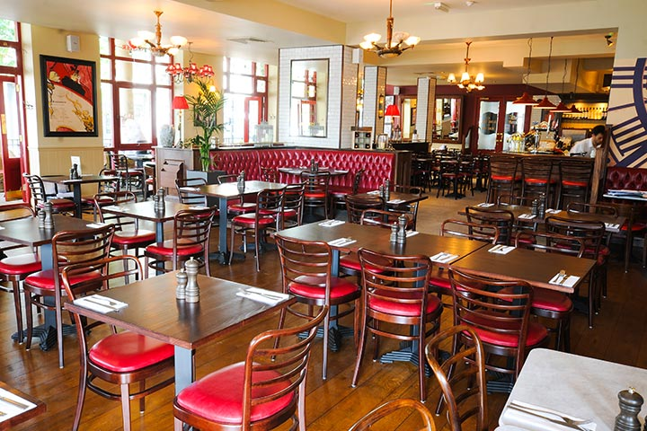 Up at The O2 and 3 Course Meal with Sparkling Wine at Café Rouge for Two - Weekday