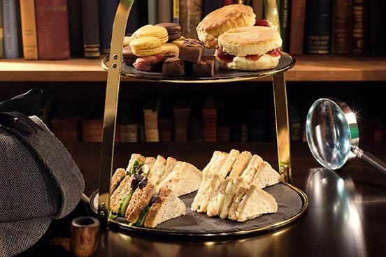 Sherlock Holmes Escape Room for Four and Afternoon Tea