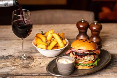 Three Course Meal and a Glass of Wine at Wildwood for Two  Thumb