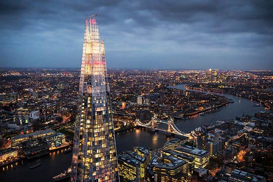 The View from The Shard and a Three Course Meal with Wine for Two at Dim-T