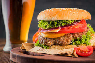 Gourmet Burger Meal and a Craft Beer for Two