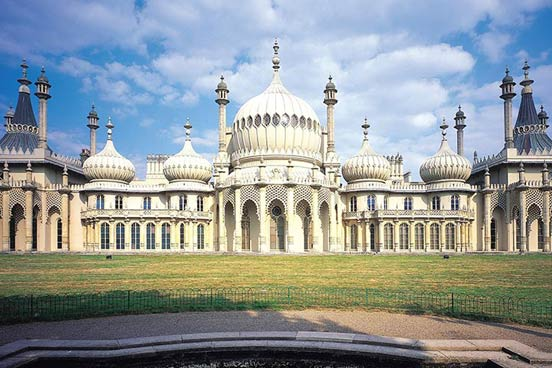 Entrance to Brighton Pavilion with a Cream Tea for Two