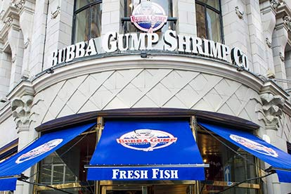 Thames RIB Boat Trip and Meal for Two at Bubba Gump Shrimp Restaurant