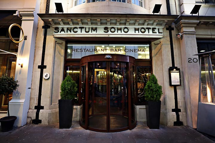 Three Course Meal with a drink for Two at the Sanctum Soho Hotel