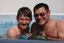 Swimming with the Crocodiles for 2 Thumb