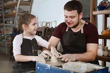 Pottery Taster Session for a Family of Four
