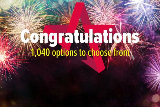 Congratulations - Gift Experience Voucher