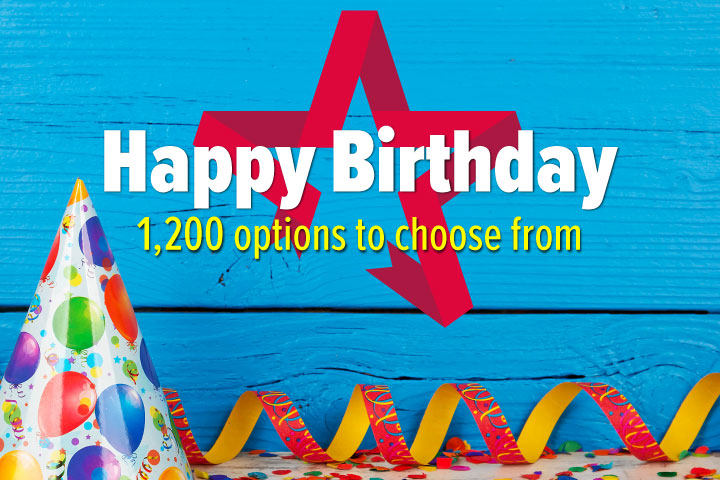 Happy Birthday - Gift Experience Voucher