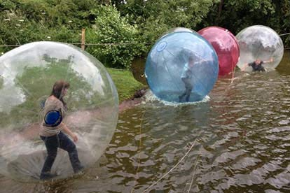 Winter Water Zorbing for 4