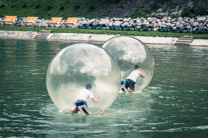 Winter Water Zorbing Experience for Two