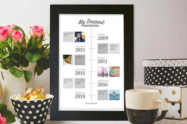 Personalised My Dearest Memories A3 Framed Print Thumb