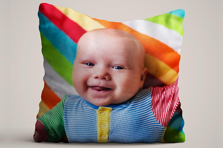 Personalised Baby Photo Cushion