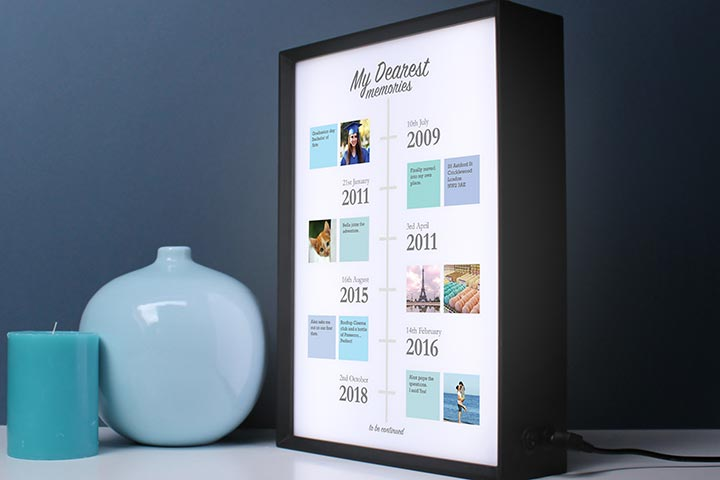 Personalised My Dearest Memories Light Box