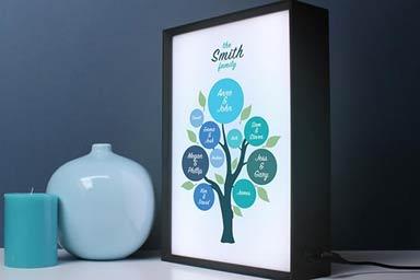Personalised Family Tree Light Box Thumb