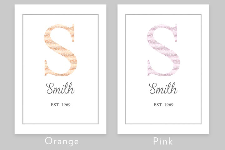 Personalised Family Initial Light Box