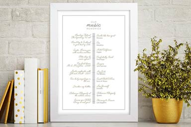Personalised My Music Memories A3 Framed Print Thumb