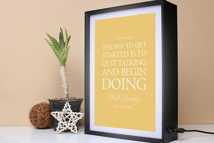 Personalised My Favourite Quote Light Box
