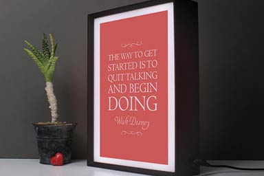 Personalised My Favourite Quote Light Box Thumb