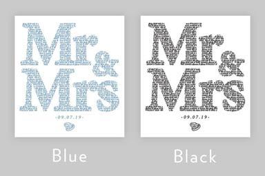 Personalised Mr&Mrs - Mr&Mr - Mrs&Mrs Light Box Thumb