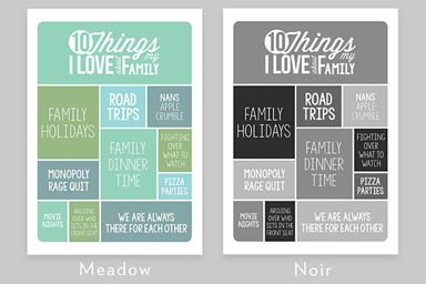 Personalised 10 Things I Love About My Family A3 Framed Print Thumb
