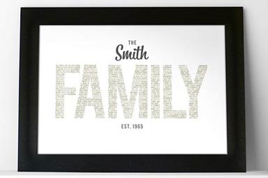 Personalised Family Name A3 Framed Print Thumb