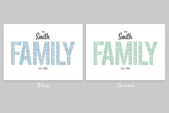 Personalised Family Name Light Box