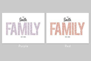 Personalised Family Name Light Box Thumb
