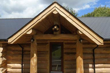 Two Night Stay in a Log Cabin at Badgers Wood, Hoo Farm