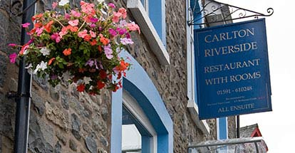 Two Night Stay at Carlton Riverside Restaurant with Rooms