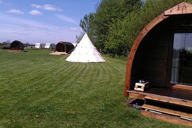 Two Night Camping Pod Break at Yapham Holds Thumb