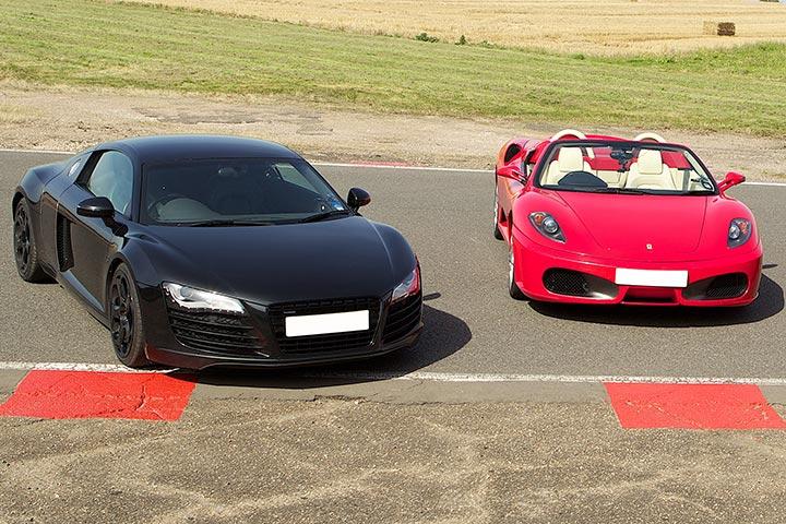 Audi R8 & Ferrari