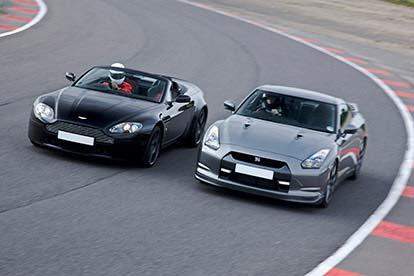 Aston Martin & Nissan GTR