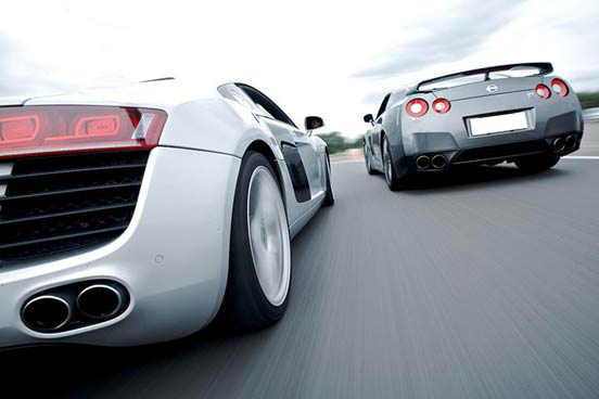 Nissan GTR & Audi R8
