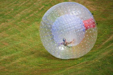 Harness Zorbing for Two Thumb