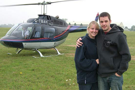 12 Mile Helicopter Flight with a Glass of Bubbly & Chocolates