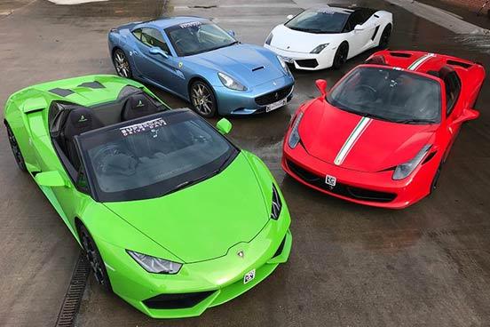 Triple Supercar Driving Choice at Carver Barracks Circuit, Essex