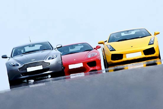 Triple Supercar Driving Choice at Prestwold Driving Centre, Leicestershire