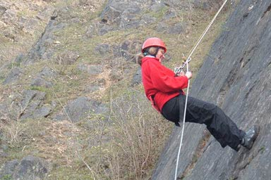 Abseiling for Two Thumb