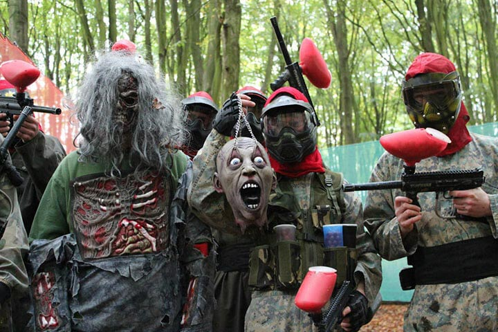 Zombie Paintball for Two