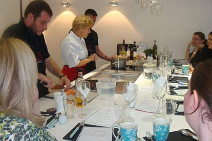 Evening Cookery Experience with Tasting & Wine for Two