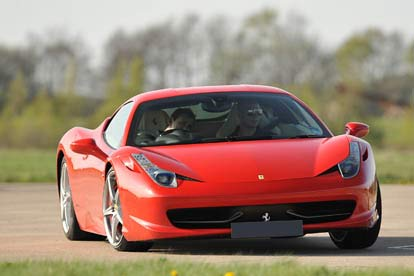 ferrari 458 italia thrill with high speed passenger ride