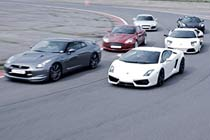 Supercar Drive with High Speed Passenger Ride