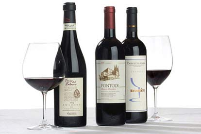 Italian Fine Red Wine Trio